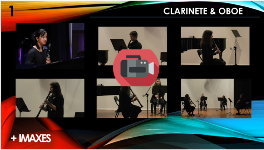 Actuación no auditorio de clarinete