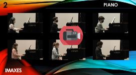 Actuación no auditorio de piano