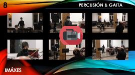 Actuación no auditorio de percusión & gaita