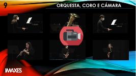 Actuación no auditorio de orquesta ,coro e cámara